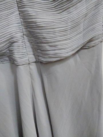 Vestido de festa cinza - Foto 4