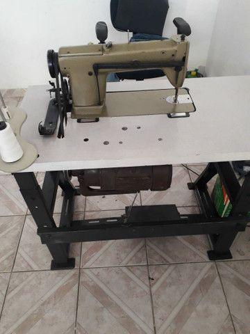Maquina reta e máquina interlock industrial