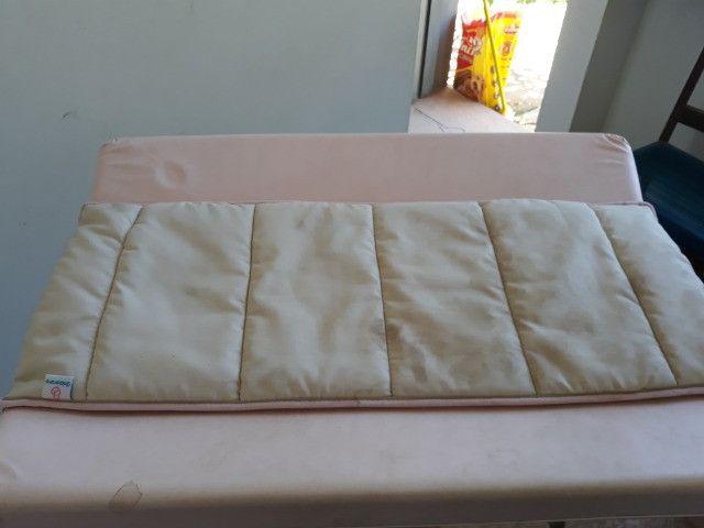 Trocador infantil rosa galzerano - Foto 2