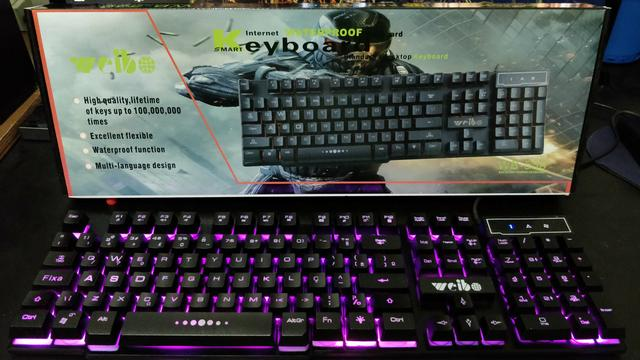 Teclado Gamer Weibo Waterfroof WB-538 Leds