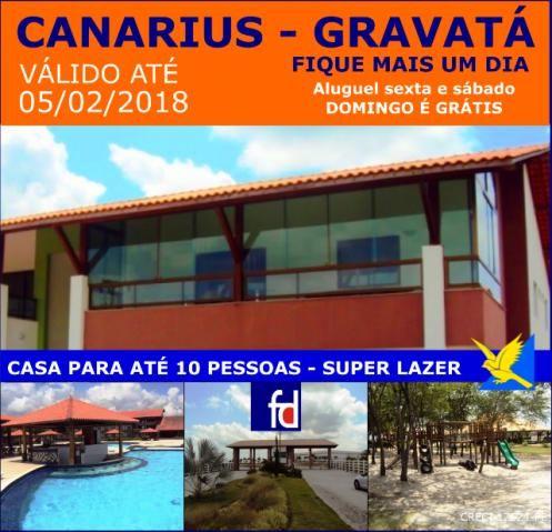 Promoção - Canarius Gravatá- 4 suítes
