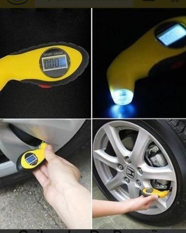 Medidor de pressão digital para pneu de carro, moto
