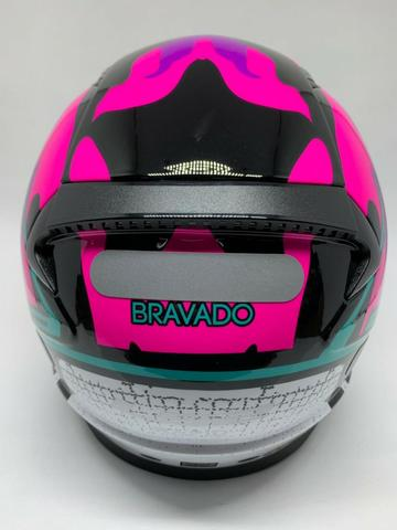 Capacete Ls2 Rapid Bravado Pink FF353 - Foto 3