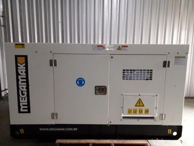 Gerador de Energia Diesel 65kva, Silenciado e Automático - Pronta Entrega