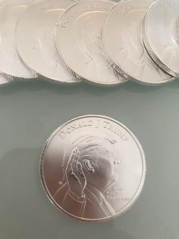 20 moedas de prata 999do Trump 1 onça cada - Foto 4