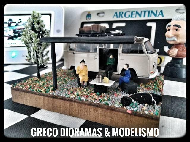 "Diorama - ""VW Kombi Acampamento"" - Foto 2"