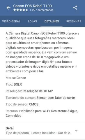 Câmera Canon T100 *Nova - Foto 4