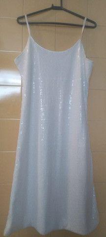 Vestido Paetê Branco(M)