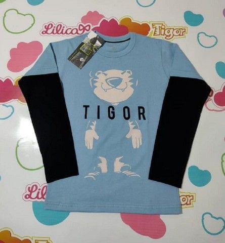 Camiseta Manga Longa Tigor - Foto 3