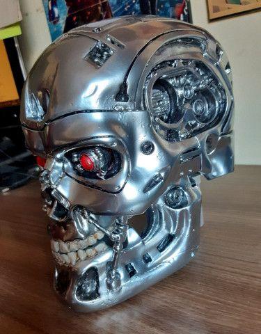 O Exterminador Do Futuro Crânio T800 Tamanho Real Escala 1/1 - Foto 6