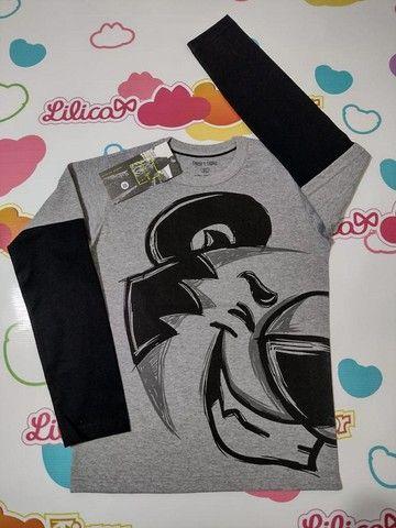 Camiseta Manga Longa Tigor - Foto 2