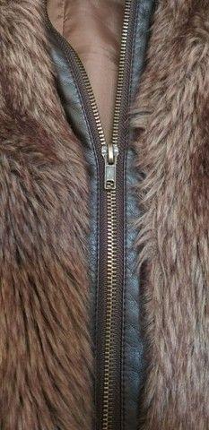 Colete/casaco de pêlo com zíper - Foto 2