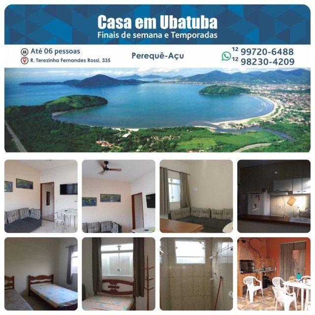 Casa em Ubatuba para temporada no Perequê Açu