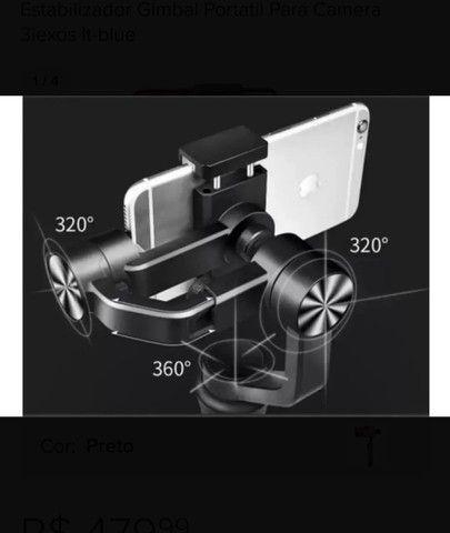Estabilizador Gimbal Portatil Para Camera 3iexos It-blue - Foto 4