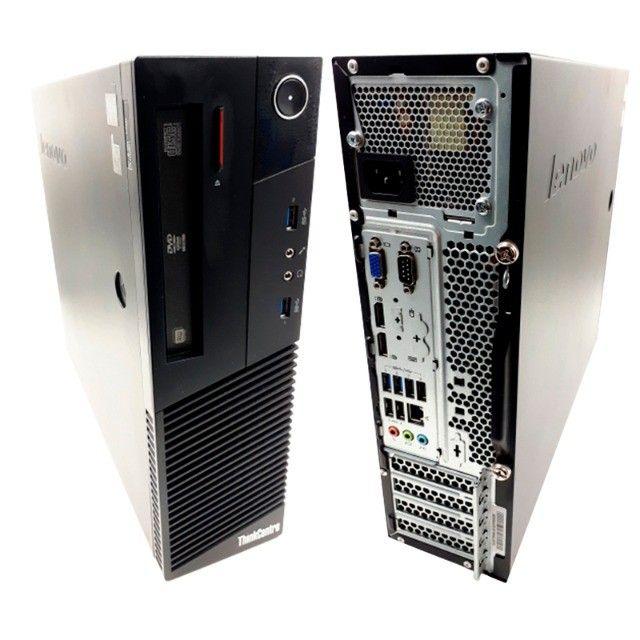 Kit Computador Monitor Teclado Lenovo I3 4160 240SSD Wifi - Foto 3