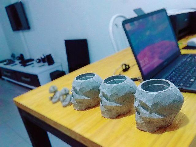 Caveiras geométricas de cimento - Foto 4