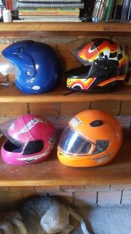 Vendo capacetes!