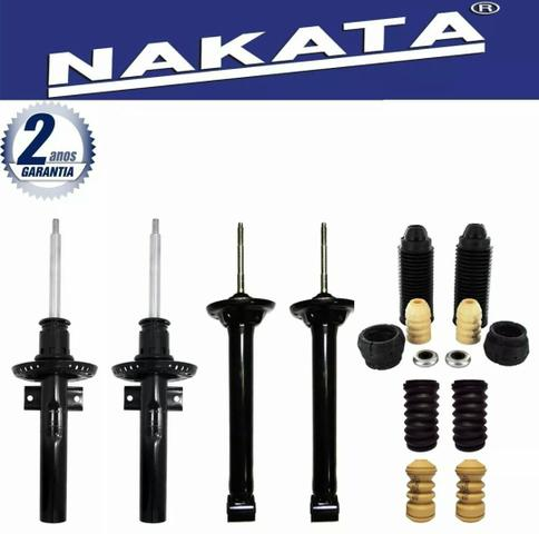 Kit completo 4 amortecedores nakata, mais 4 kits de batentes