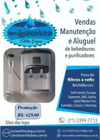 Purificador Filtro Bebedouro de Água Branco Marca Latina - Refrigerado por Compressor