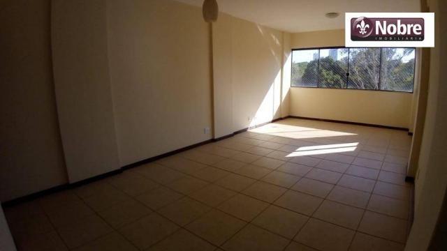 Apartamento com 3 dormitórios para alugar, 112 m² por r$ 1.405,00/mês - plano diretor sul  - Foto 4