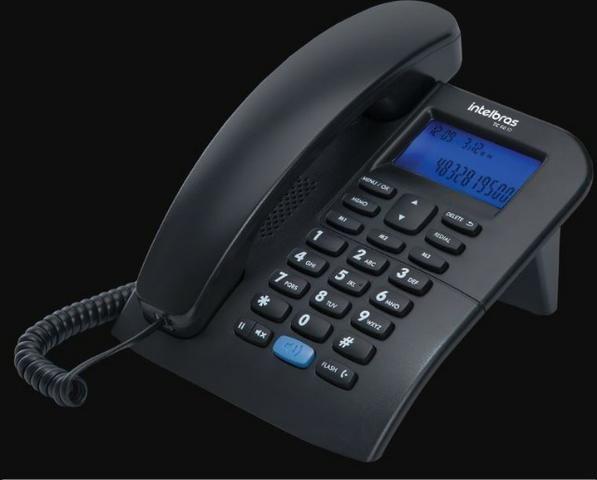 Telefone com Fio Intelbras TC 60 ID preto - Foto 2
