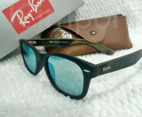 Óculos de sol RB espelhado e pernas madeira com lentes de proteção UV 0a97870914
