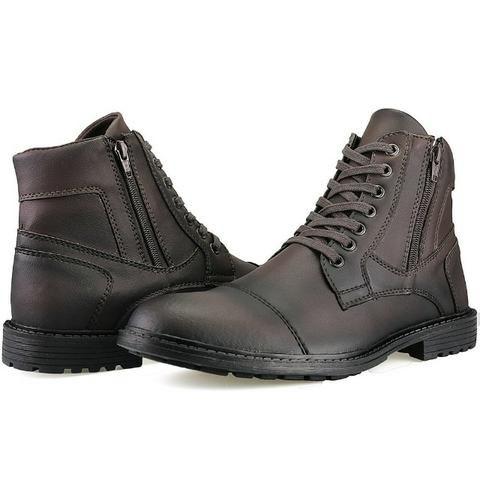 5a17cfd195 Bota Masculina Sapato Coturno Casual Super Leve C/ziper - Roupas e ...