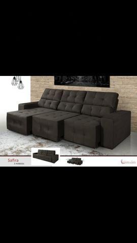 Imperdível sofá reclinável retrátil grande novo garantia