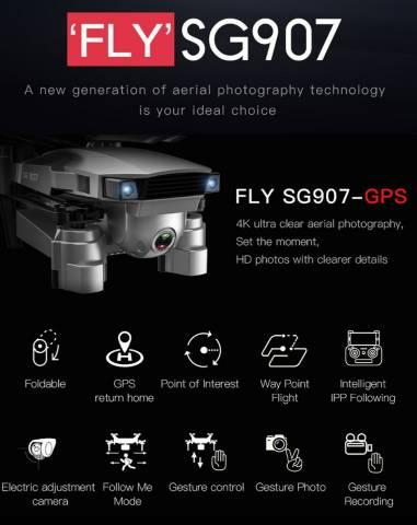 DRONE SG 907 - DISTANCIA 500M/ GPS / 2 CÂMERAS  - Foto 2