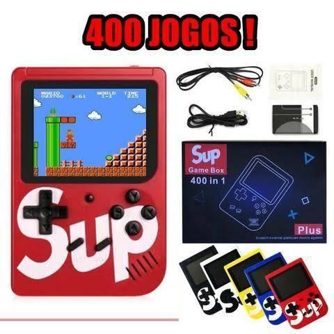 Vídeo Game Portátil 400 Jogos Internos Mini Game Sup Retro - Foto 2