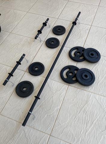 Barra / Halter / Anilha / Presilhas - Musculação / academia / Treino quarentena - Foto 2