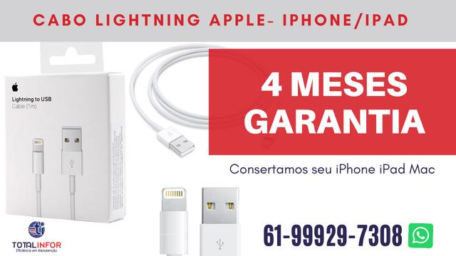 Cabo Usb iPhone X, 5, 6, 7 ou 8 OEM com 120 dias de Garantia