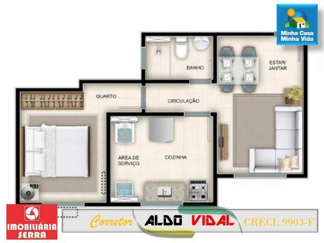 ARV 96 Apartamento Novo 2 Quartos, Condomínio Club. Carapebus, Serra - ES - Foto 17