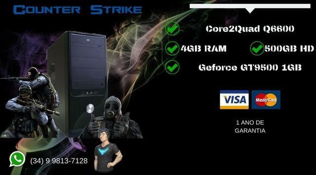 PC Gamer Core2Quad Q6600 - Troco e Passo Cartão - Foto 2