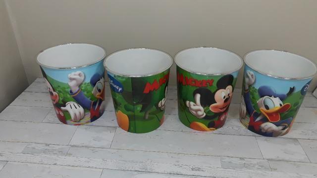 Potes do Mickey - Novos - sem uso - 04 peças - Foto 3