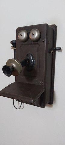 Raro telefone Kellogg começo século XX - Foto 2