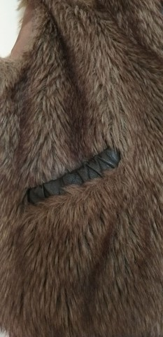 Colete/casaco de pêlo com zíper - Foto 3
