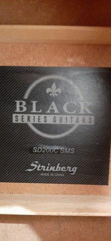 Violão Folk Strinberg Black Series Guitars - Foto 5
