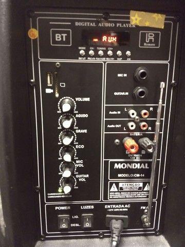 Caixa Amplificada 400w Mondial com Bluetooth, USB e Rádio FM  - Foto 2