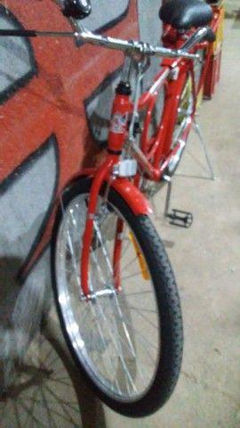 bicicleta nova nunca usada com garupa - Foto 4