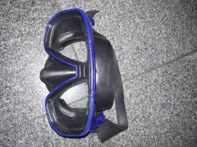 Máscara de mergulho, canudo e pé de pato - Foto 5