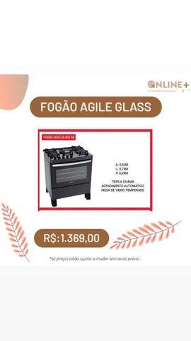 Fogão Agile Glass