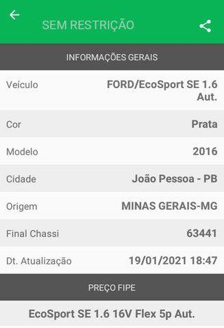 EcoSport automático 15/16 moto 1.6 Flex  - Foto 5
