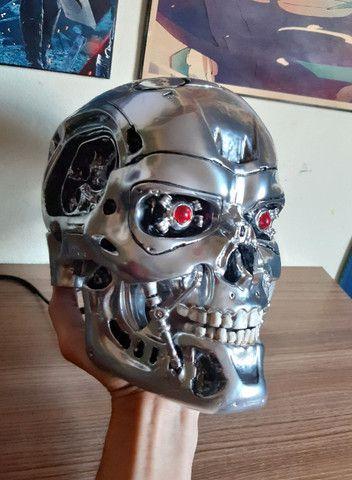 O Exterminador Do Futuro Crânio T800 Tamanho Real Escala 1/1 - Foto 4
