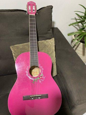 Violão feminino rosa Menphis  - Foto 4