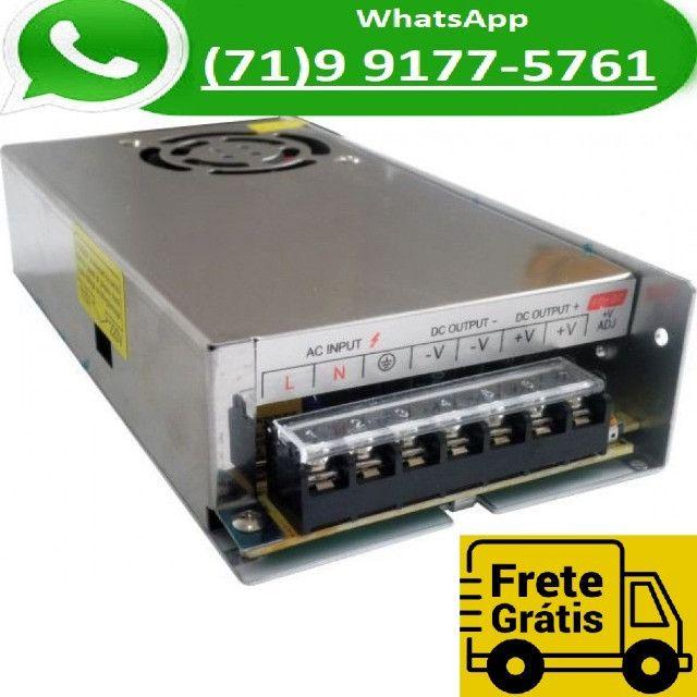 Fonte Chaveada 20a 12v 250w P/ Cftv Fita Led Som Automotivo 20 Amperes 12 Volts (NOVO)