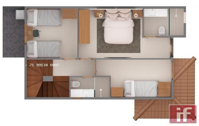 Casa de condomínio à venda com 3 dormitórios em Imbassaí, Mata de são joão cod:371 - Foto 13