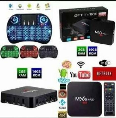 "Tv Box Kit+Teclado Android""(8.1),16Gigas+3Gigas RAM,Loja Cachoeirinha! - Foto 3"