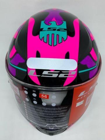 Capacete Ls2 Rapid Bravado Pink FF353 - Foto 2