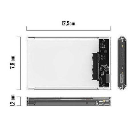 Case USB 3.0 Sata HD Notebook 2.5 Bolso Externa Ps4 Xbox - Foto 3
